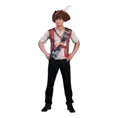Pánský kostým 3D tričko pirát 54
