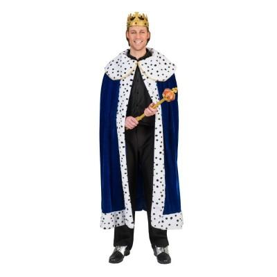 Karnevalový kostým Král plášť modrý