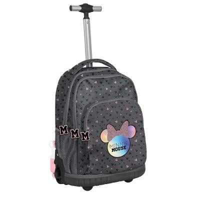 Cestovní batoh na kolečkách s vysouvací rukojetí Minnie šedý