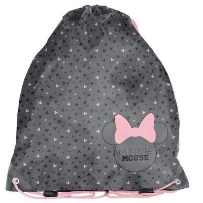 Školní pytel vak sáček Minnie Mouse šedý