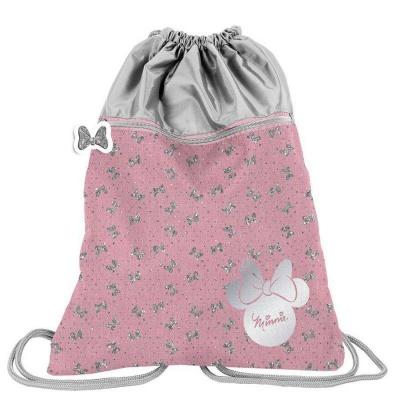 Batoh pytel vak s přední kapsou Minnie růžový