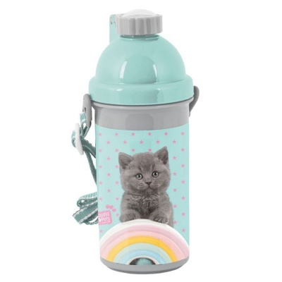 Plastová láhev 500ml Kočka s duhou