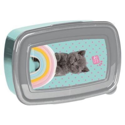 Svačinový box krabička na oběd Kočka s duhou