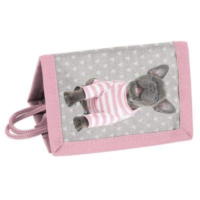 Textilní peněženka Pes buldoček