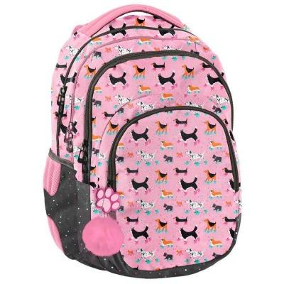 Školní batoh Pejsci s kolečkovými bruslemi