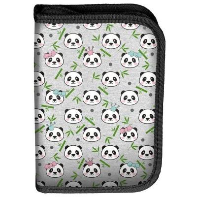 Školní pouzdro penál Panda - s chlopněmi a vybavením
