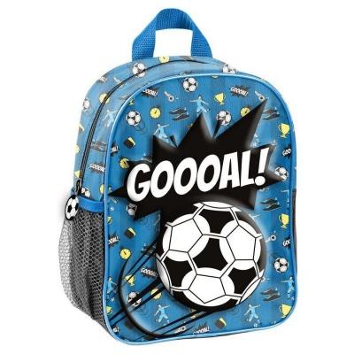 Dětský batoh malý 3D efekt Fotbal modrý