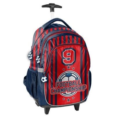 Cestovní batoh na kolečkách s vysouvací rukojetí Fotbal