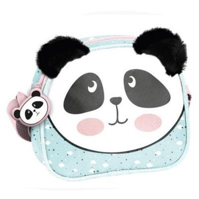 Dívčí kabelka taška přes rameno Panda s plyšovýma ušima