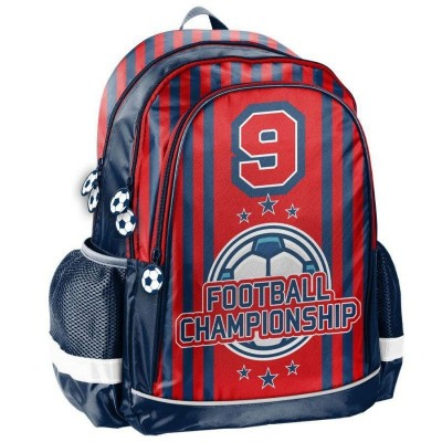 Školní batoh brašna Fotbal červený
