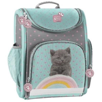 Luxusní školní batoh aktovka i pro prvňáčky Kočka s duhou