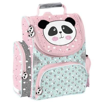 Školní batoh aktovka Panda s plyšovými oušky