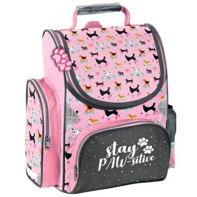 Školní batoh aktovka Pejsci s kolečkovými bruslemi