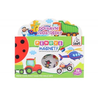 Dětské pěnové magnety Dopravní prostředky