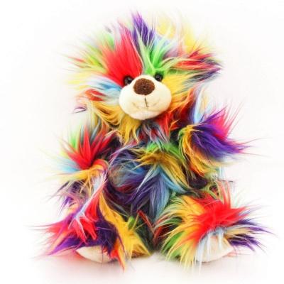 Plyšový barevný medvěd 33 cm eco-friendly