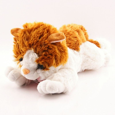 Plyšová Kočka s mašlí 47cm