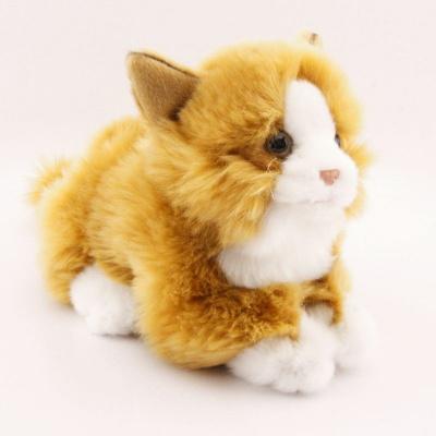Plyšová Kočka rezavobílá 25 cm eco-friendly