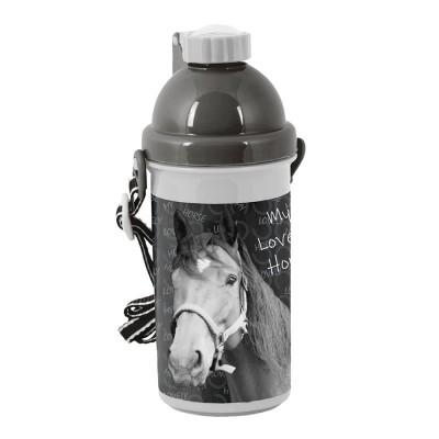 Plastová láhev 500ml Kůň černý