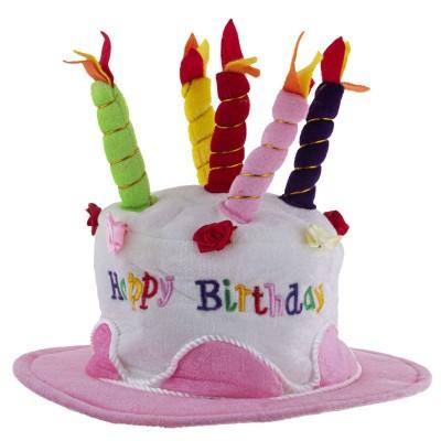 Narozeninový klobouk dort - růžový