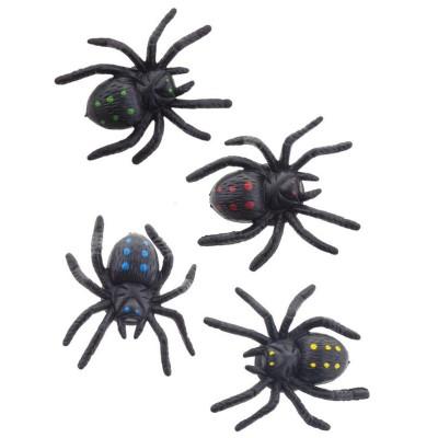 Dekorace pavouci s přísavkou - 4ks