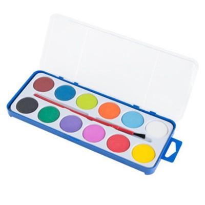 Vodové barvy a štětec - 12 barev