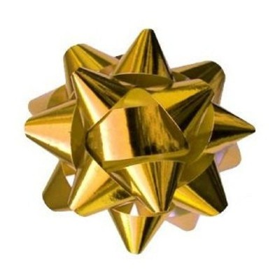 Metalická mašle rozeta 8cm zlatá
