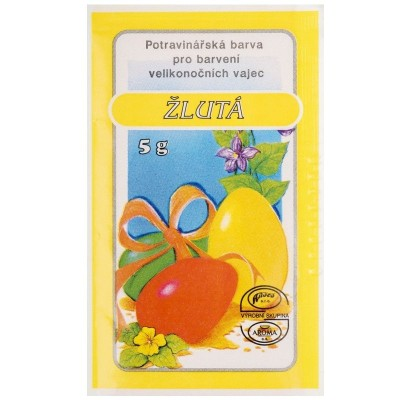Velikonoční barvy na vajíčka 5g žlutá