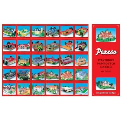 Pexeso Stavebnice papírových modelů