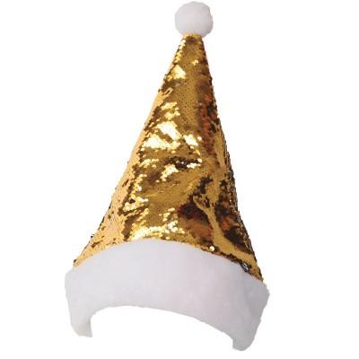 Vánoční čepice Santa Claus s měňavými flitry