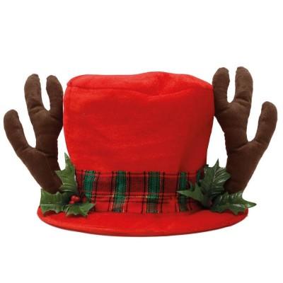 Vánoční klobouk Sobí parohy