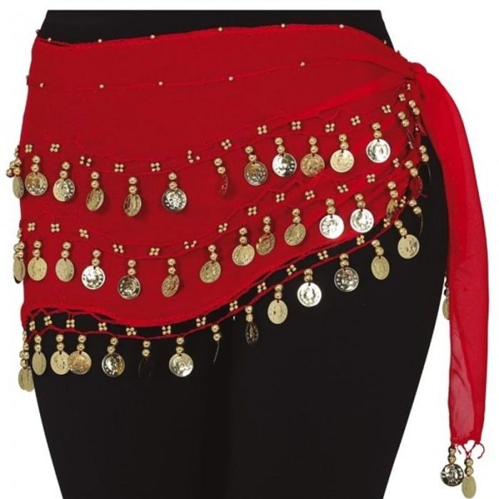 Šátek s mincemi břišní tanečnice