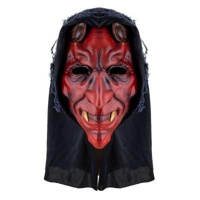 Maska čert s kapucí gumová