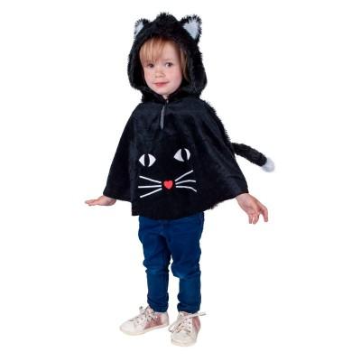 Dětský kostým Černá kočka kápě