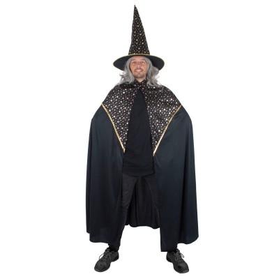 Pánský kostým Čaroděj plášť a klobouk