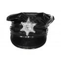 Policejní čepice lesklá dospělá