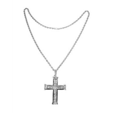 Náhrdelník - kříž - stříbrný
