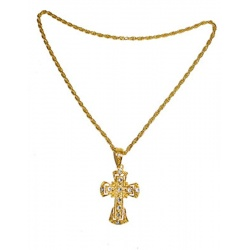 Náhrdelník kříž - s kameny