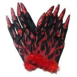 Třpytivé rukavice čertice
