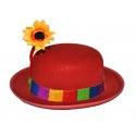Klaunský klobouk s květinou