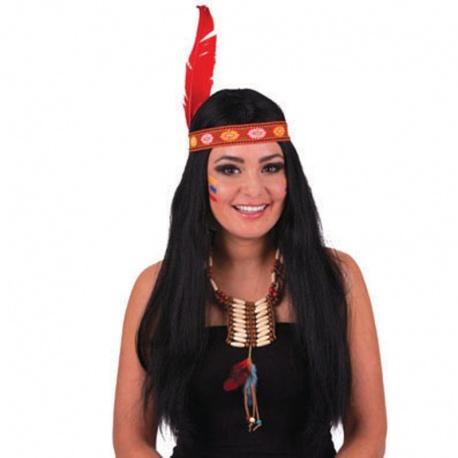 Paruka indiánka s čelenkou