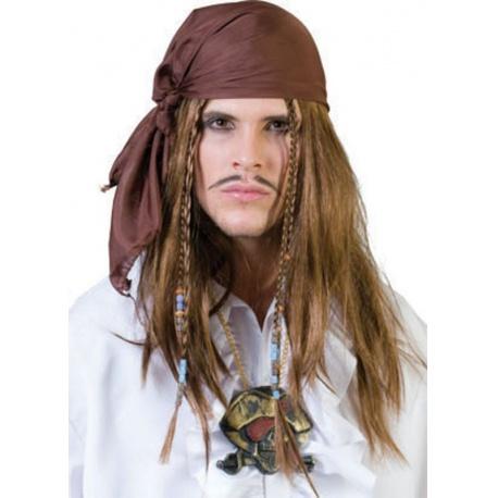 Paruka pirát s šátkem a korálky