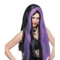 Paruka čarodějnice - fialová