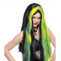 Paruka čarodějnice - zelená