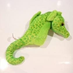 Plyšový Mořský koník - zelený