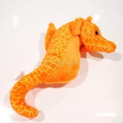 Plyšový Mořský koník - oranžový