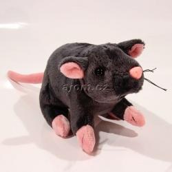 Plyšová krysa - černá