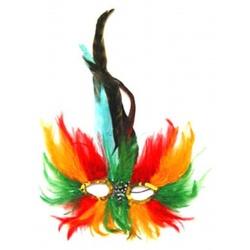 Benátská maska škraboška - peří