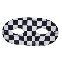 Maska škraboška pierot černobílá
