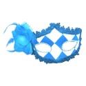 Škraboška maska benátská modro bílá