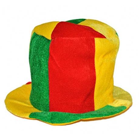 Barevný klobouk klaun